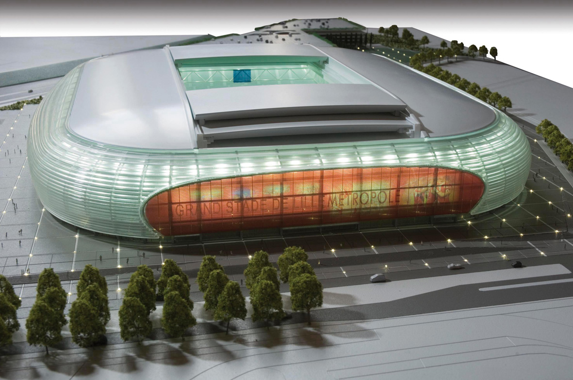 Grand stade stade pierre mauroy for O architecture lille